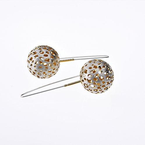 Silver / Gold Ball Dangle Earrings