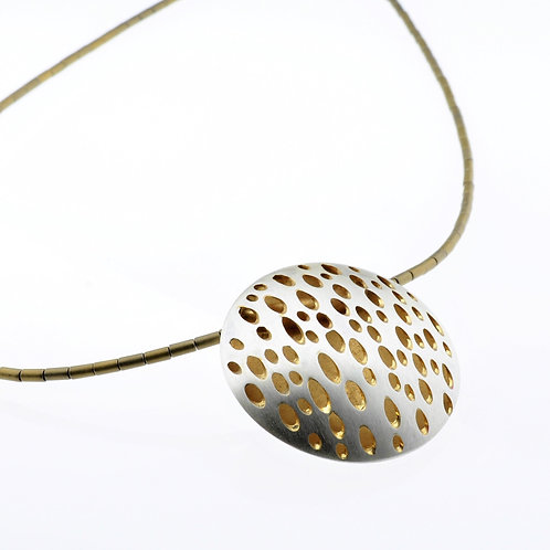 Silver / Gold Large Disc Necklace
