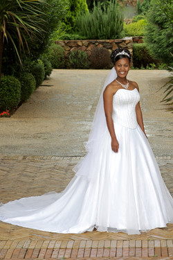A bride outside on her wedding day