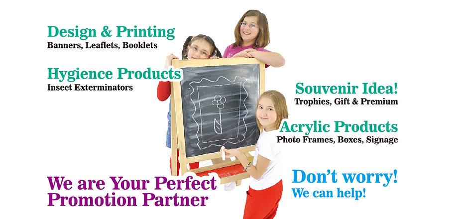 一站式禮品、印刷品、橫額設計及印刷
