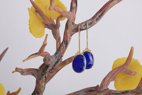 Lapis Earrings (05845)