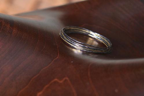 Silver and Gold Hoop Bracelet (06911)