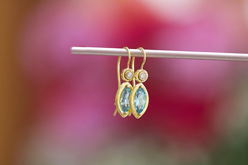 Aquamarine Earrings (06758)