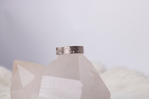 White Gold Diamond Wedding Band (04728)