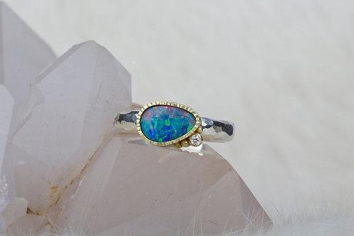Opal Diamond Ring (03321)
