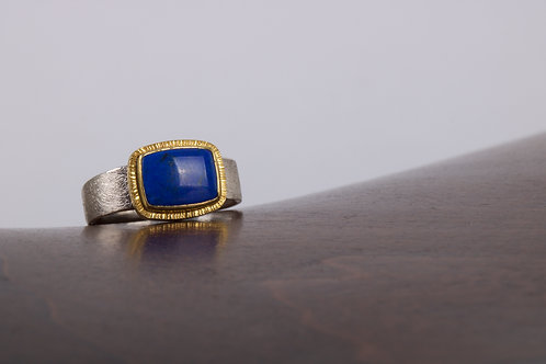 Lapis and Mixed Metal Ring (05486)