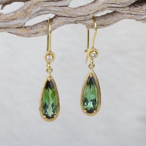 Green Tourmaline Earrings (01324)