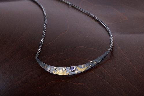 Sapphire Sliver Necklace (05502)