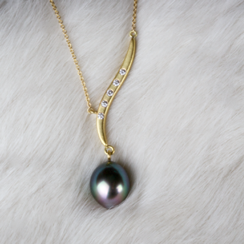 Tahitian Pearl Necklace (04549)
