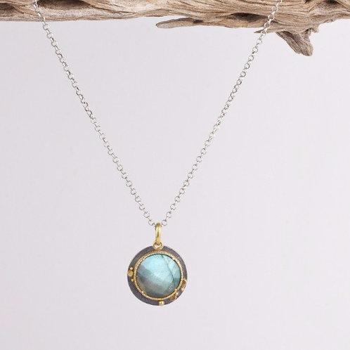 Mixed Metal Labradorite Pendant (04231)