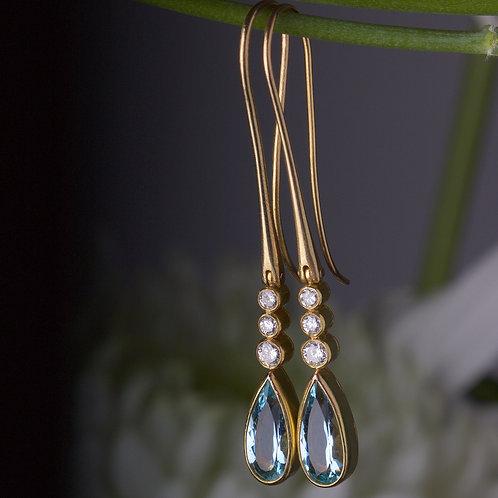 Aquamarine Drop Earrings (05894)