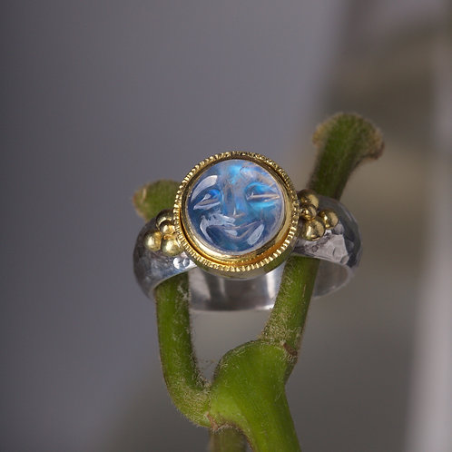 Moonstone Moonface Ring (05893)