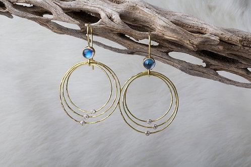 Moonstone Diamond Earrings (02602)