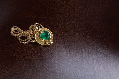 Emerald Heart Necklace (04721)