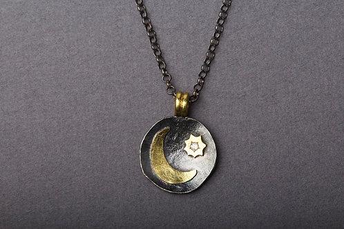 Diamond Moon Pendant (02318)