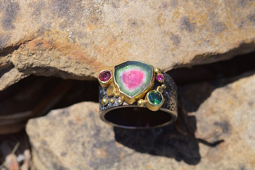 Multi Tourmaline Ring (05364)