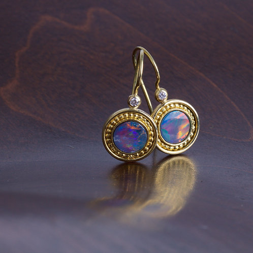 Opal and Gold Earrings (05802)
