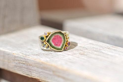 Watermelon Tourmaline Ring (05189)