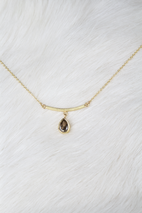 Gold Diamond Briolette Necklace (04347)