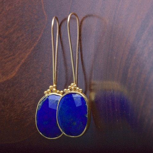 Lapis Earrings (05845)