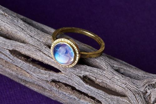 Moonstone Gold Ring (02490)