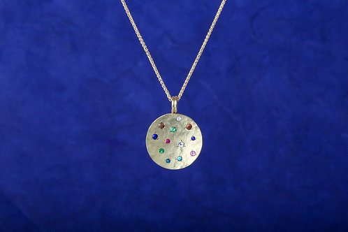 Multi Gemstone Pendant (02473)