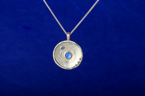 Moonstone Diamond Pendant (02578)