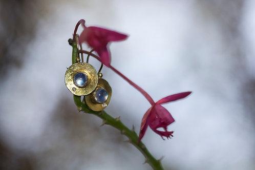 Moonstone and Diamond Earrings (05375)
