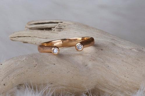 Rose Gold Diamond Open Ring (9093)