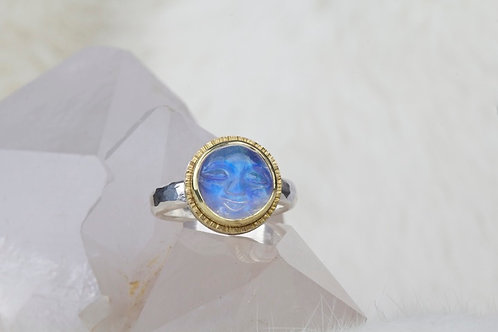 Moon Face Moonstone Ring (03320)