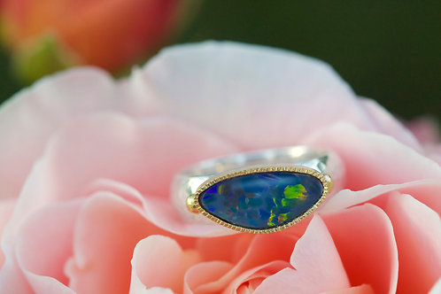 Opal Mixed Metal Ring (05860)