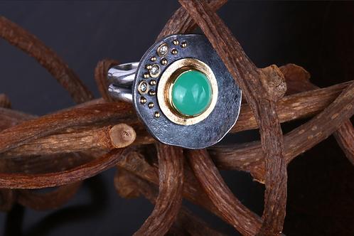 Chrysoprase Ring (04517)