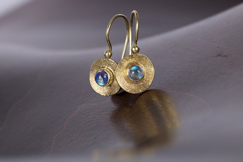 Moonstone and Mixed Metal Earrings (05301)