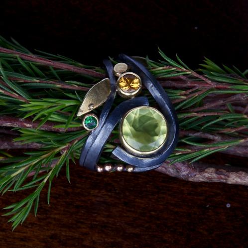 Nevada Golden Opal Ring (04063)