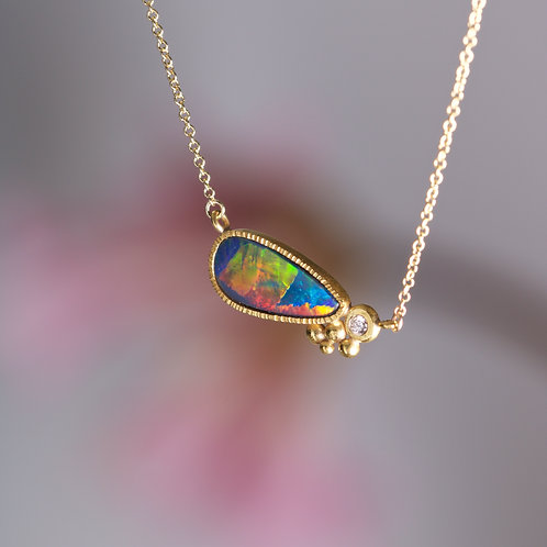Opal and Diamond Necklace (06020)