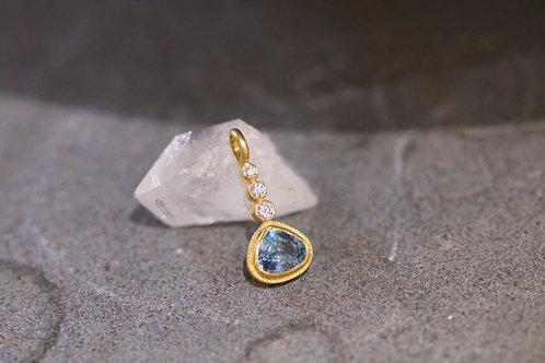 Aquamarine Drop Pendant (06752)