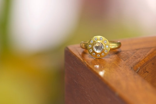 Rose Cut Diamond Engagement Ring (06721)