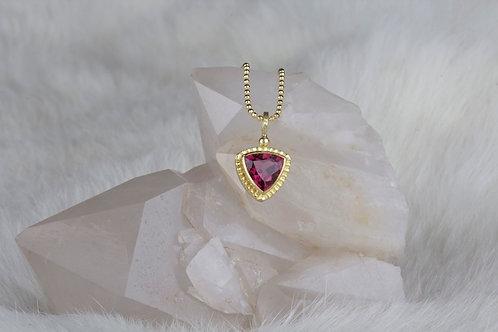Rhodolite Garnet Pendant (02917)