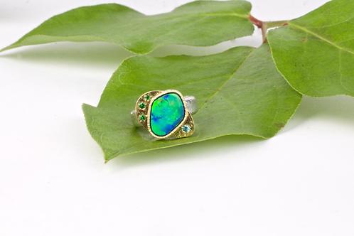 Opal Tsavorite Ring (04101)