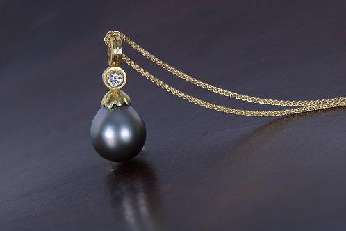 Diamond and Pearl Pendant (05304)