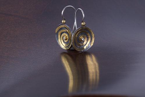 Gold Spiral Earrings (05166)