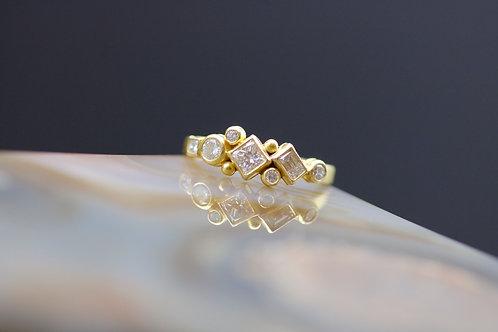 Multi-Cut Diamond Engagement Band (06627)