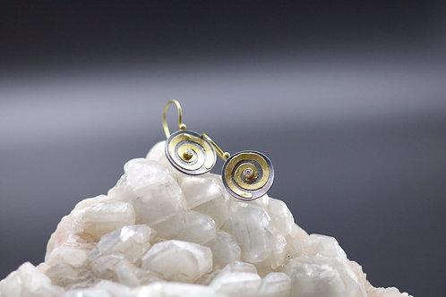 Diamond Swirl Earrings (06689)