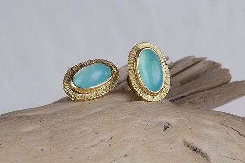 Peruvian Opal Stud Earrings (03173)