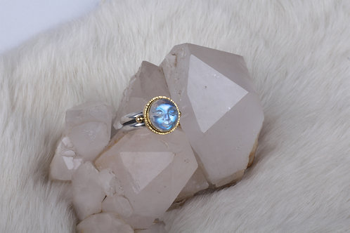 Moonface Moonstone Ring (04754)