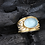 Thumbnail: Aquamarine Diamond Ring (02897)