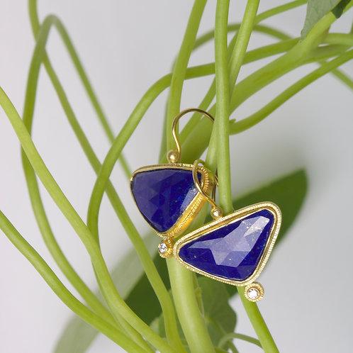 Lapis Earrings (06107)