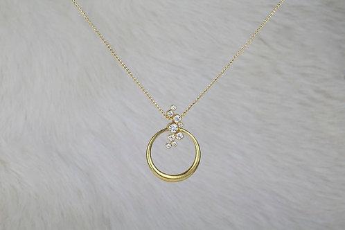 Gold Diamond Necklace (03322)