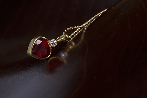 Ruby Heart Pendant (04718)