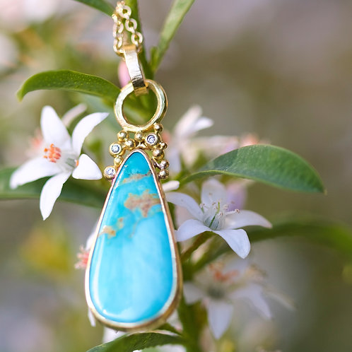 Turquoise Drop Pendant (05814)